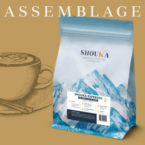 "Shoukâ Expresso<br><small class=""productArchive-tag"">BRÉSIL 70% / COLOMBIE 30%</small>"