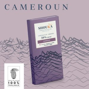 """Chocolat Lait – Amandes – 50% Cacao<br><small class=""""productArchive-tag"""">CAMEROUN</small>"""