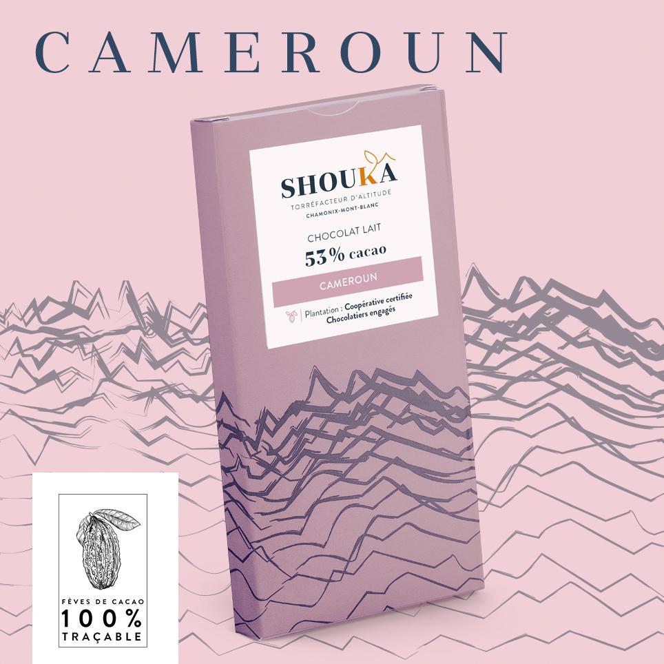 Chocolat Cameroun Lait 53% Shoukâ