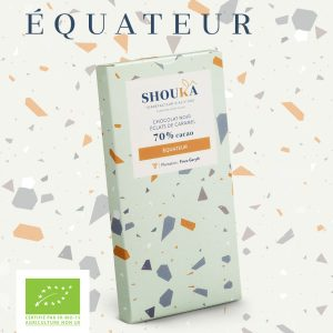 "Chocolat Noir – Caramel – 70% Cacao<br><small class=""productArchive-tag"">ÉQUATEUR</small>"