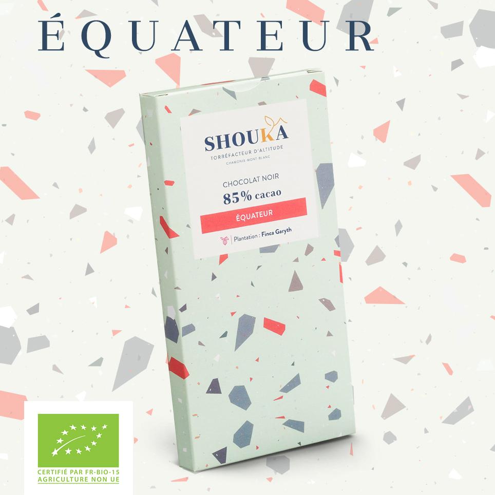 Chocolat Équateur Noir 85% Shoukâ