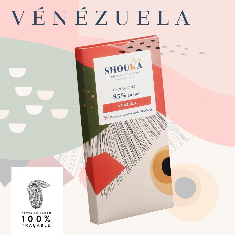 Chocolat Vénézuéla Noir 85% Shoukâ