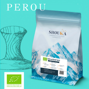 "Décaféiné Bio<br><small class=""productArchive-tag"">PÉROU- SWISS WATER PROCESS</small>"