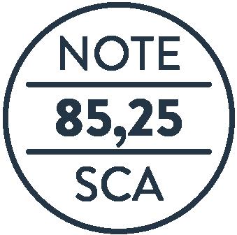 Note SCA 85+, Speciality Coffee Association, Shoukâ
